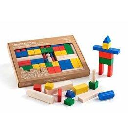 Milaniwood Set of 50 wooden blocks