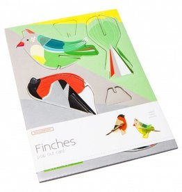 Gadgets Pop out postal card (finches)