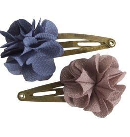 Maileg Blue and purple hair clips