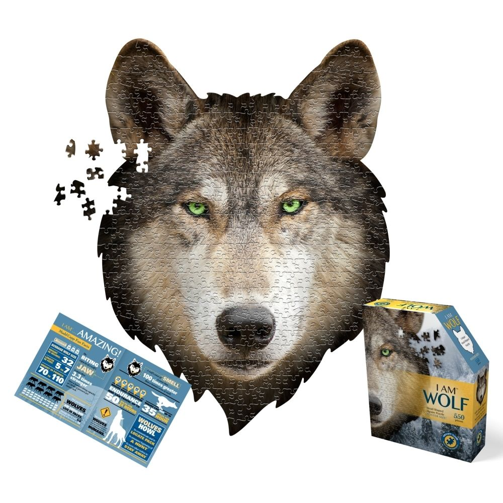 Casse-tête / Puzzle I am a Wolf Puzzle (500 pcs) with info booklet