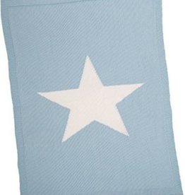 Merben Blue Baby blanket with a star Merben