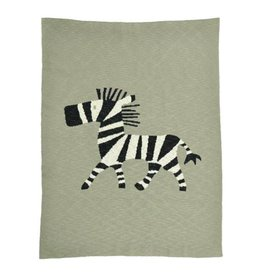 Merben Baby Blanket with a Zebra