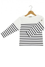 Armor Lux Long-sleeve T-shirt white and navy blue Size 10 years