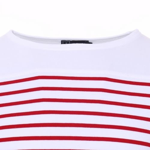 Armor Lux Long-sleeve t-shirt white and red Size 10 years