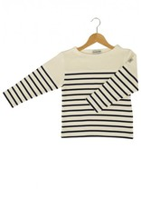 Armor Lux Long-sleeve T-shirt beige and navy blue Size 6 years