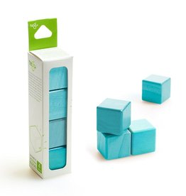 Tegu A la carte Cubes Magnetic Wooden blocks Blue