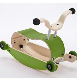 Wishbone Mini Flip Base Green (Add base and Wheels)