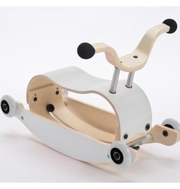 Wishbone Mini Flip Top White (MIx and Match with Base and Wheels)