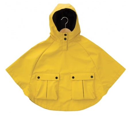 Armor Lux Yellow Rain Cape Size 8 years