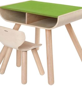 Plantoys Table and chair set (green)