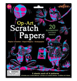 Eeboo Op-Art Scratch Paper (20 Sheets)
