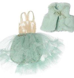 Maileg Best Friends Balerina Dress & Fur Vest -Mint