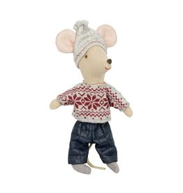 Maileg Big Brother Mouse in Winter Clothes