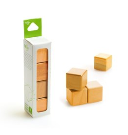 Tegu A la Carte Cubes Magnetic Wooden Blocks Orange
