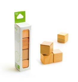Tegu A la Carte Cubes Magnetic Wooden Blocks Orange