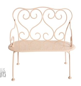 Maileg Mini Romantic Bench Powder pink