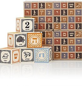 Uncle Goose Hebrew (Alef-Bet) Wooden Blocks