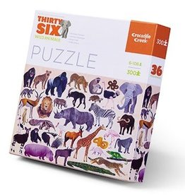 Crocodile Creek Puzzle 36 Wild Animals 300 pcs