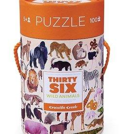 Crocodile Creek Puzzle 36 Wild Animals 100 pcs