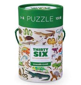 Crocodile Creek Puzzle 36 Reptiles & Amphibians 100 pcs
