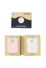 Armor Lux 2 bodies white and pink Size 3 months