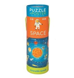 Crocodile Creek Space Puzzle + Poster 200 pcs
