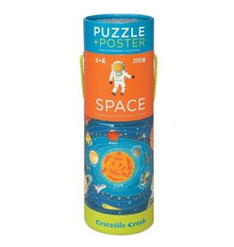 Crocodile Creek Space Puzzle + Poster