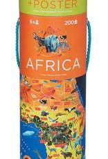 Crocodile Creek Africa Puzzle + Poster 200 pcs
