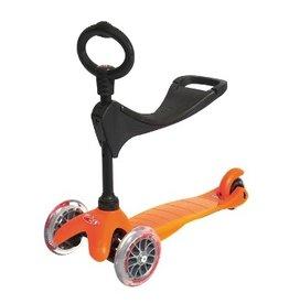 Micro Trottinette Mini kick orange (3 dans 1)