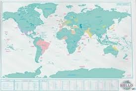 Gadgets Carte du monde à gratter