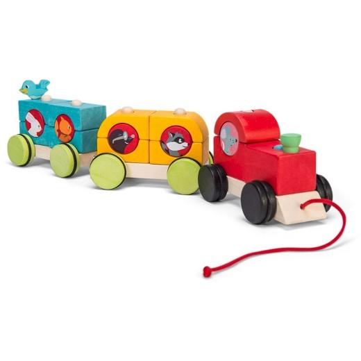 Le Toy Van Train de bois à tirer