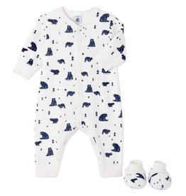 Petit bateau Combinaison pyjama et chausspn taille 3 mois