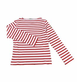 Armor Lux White and Red Sailor Sweater - 3 yrs