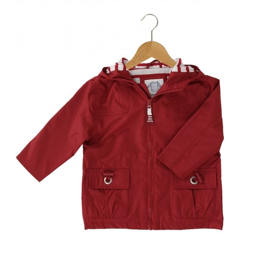 Armor Lux Red Impermeable Coat 4 yrs