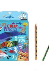 Eeboo 24 crayons de couleurs