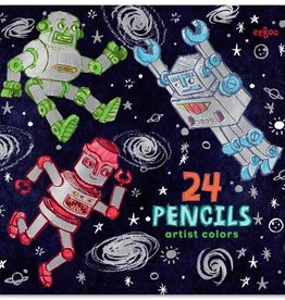Eeboo 24 robot color pencils eeBoo