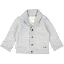 Louis*Louise Cardigan coton gris chiné