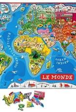 Janod Casse-tête magnétique monde français- janod