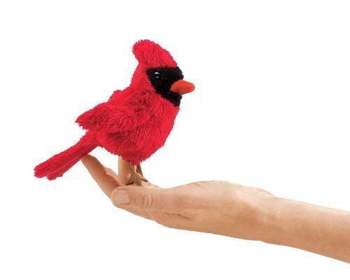 Folksmanis Mini marionnette cardinal