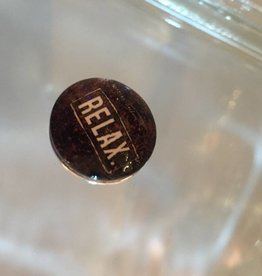Snap Button Jewels™ | glass words of insight | brown | relax