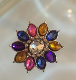 Snap Button Jewels® | rhinestone | multi-color | flower