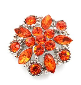 Snap Button Jewels® | rhinestone | orange | ornate multi stone
