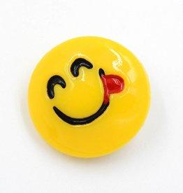 Snap Button Jewels™ | Fun | Yellow | Emoji Tongue Out