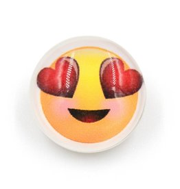 Snap Button Jewels™   glass fun   yellow   emoji heart eyes