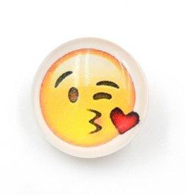 Snap Button Jewels™ | Fun Glass | Yellow | Emoji kiss