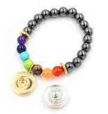 Snap Button Jewels® | fun glass | yellow | scared emoji