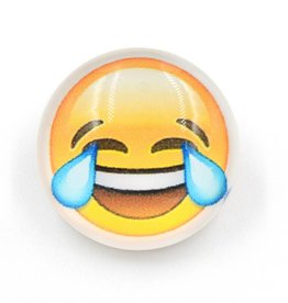 Snap Button Jewels™   Fun Glass   Yellow   Emoji joy