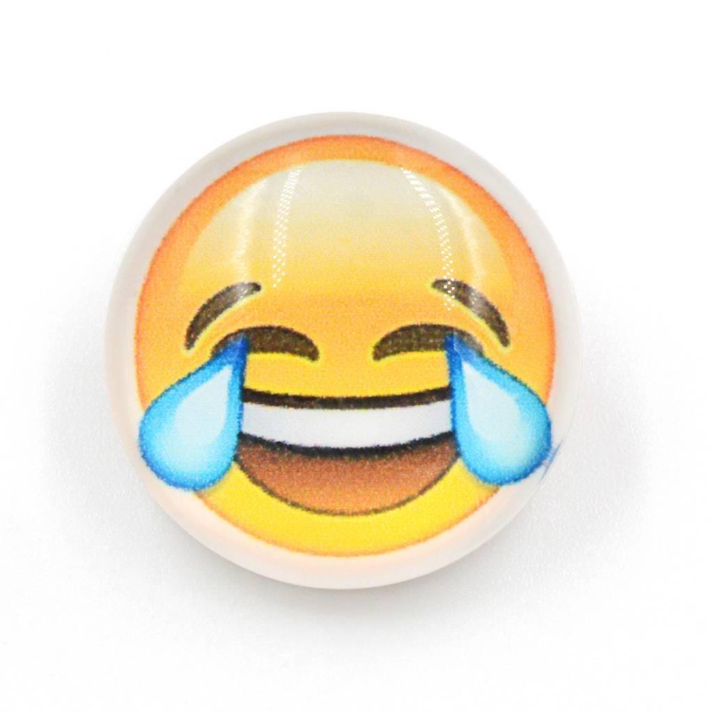 Snap Button Jewels™ | Fun Glass | Yellow | Emoji joy