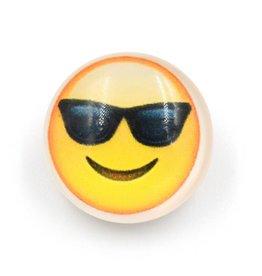 Snap Button Jewels™   fun glass   yellow   emoji sunglasses