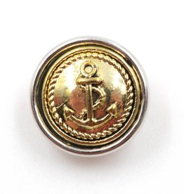 Snap Button Jewels™   mini snap button   gold   anchor